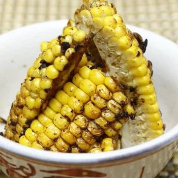 名残のトウモロコシはカレー風味で