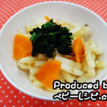 9~11ヶ月ごろの離乳食【やわらか野菜の焼きうどん】