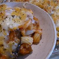 野郎飯流・茄子とマカロニのミートグラタン