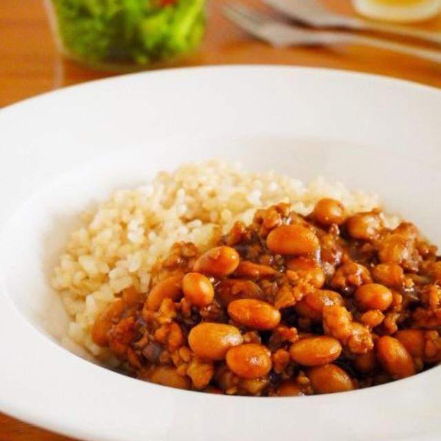 煮込まず簡単!チキンと豆のキーマカレー
