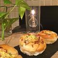 酒粕入りパン生地でオニオンベーコンパン・・ランチはホットサンドでした