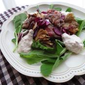 舞茸と牛肉ソテーのトンナートソース