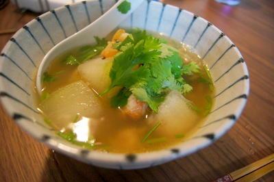 冬瓜が優しい♪海老と冬瓜のスープ麺