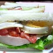 お花見と、レモンバジルジュレでサンドイッチ~♪ と、飾り巻き寿司にチャレンジ!
