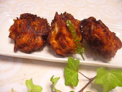 豚肉とキムチの天ぷら