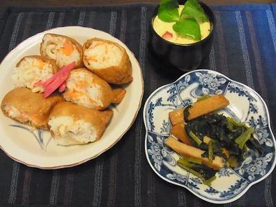 特売小松菜で1品&遅い昼ご飯^_^;