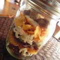 ココアとチーズクリームの簡単ジャーケーキ