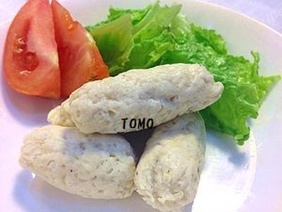 ヘルシー&簡単♪レンジ de 鶏肉とお豆腐のソーセージ