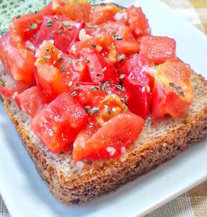 【レシピ】簡単ジュワッと♪塩麹トマトトースト【美肌・腸活】