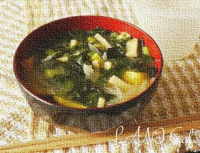 野菜たっぷり味噌汁