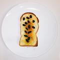 美味しい朝食♪レーズンりんご煮トースト