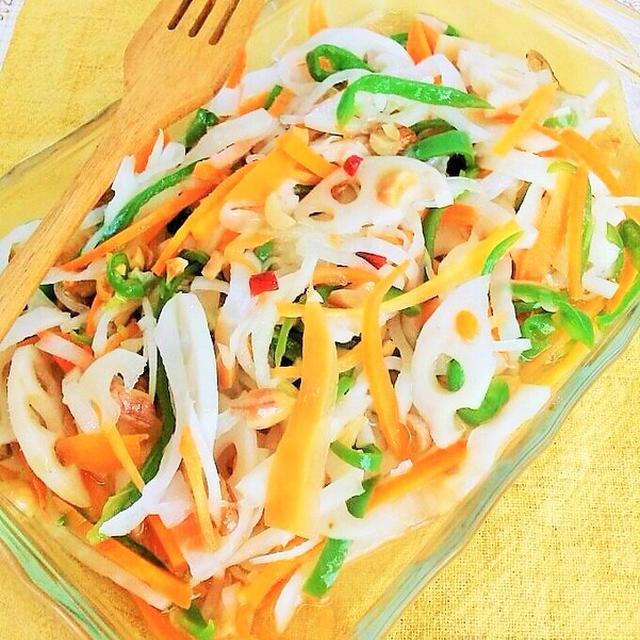 """""""なます""""って漢字があったんだ~!? 食感が楽しい♪彩り野菜のエスニックなます"""
