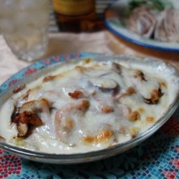 鮭と白菜の簡単おかずクリームグラタン