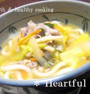 野菜たっぷりの韓国風〜味噌煮込みうどん