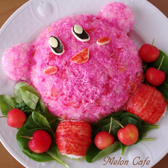 どんと一皿、カービィ寿司☆誕生日に作った簡単キャラデコごはん