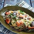 秋鮭と豆苗のカレークリームパスタ@イオン・ザ・テーブル62 by 管理栄養士/フードコーディネーター りささん