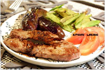 4種のペッパーミックス&バルサミコステーキ(レシピ)
