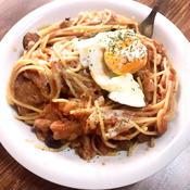 ニンニク香るナスとトマトのスパゲティ