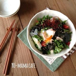 うまみたっぷり!韓国海苔を使った簡単即席サラダ!