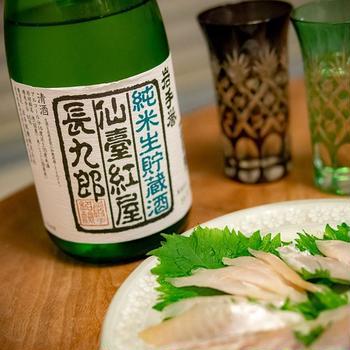 岩手誉 純米生貯蔵酒 仙台紅屋長九郎。