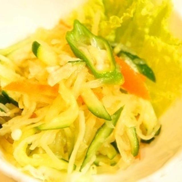 そうめんカボチャとオクラのタイ風サラダ、おこぜのブイヤベースとブラスプのマリアージュ