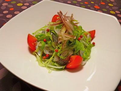 コノシロのサラダとヤングコーン