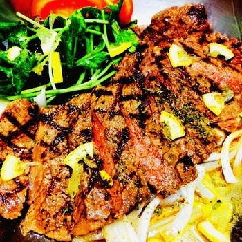 #16 Local restaurant STEAK -lemon sauce-