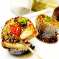 秋刀魚・トマト・ジェノベーゼのピンチョス