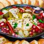 【レシピ】ゴロゴロにんにくとタコのカマンベールアヒージョ
