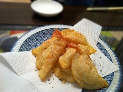 海老チーズ揚げ餃子