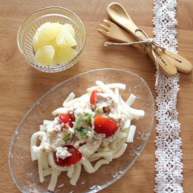 幼児食☆トマトと豆腐の冷うどん
