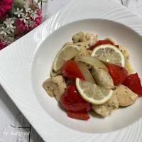 鶏むね肉のレモンマリネ|料理の盛り付け