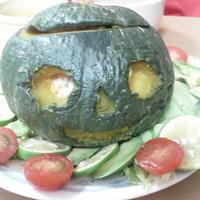 丸ごとかぼちゃのジャックオランタン