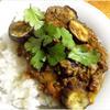 茄子と挽肉の簡単カレー