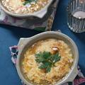 お餅でオニオングラタンスープ