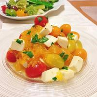 ミニトマトとオレンジのハニーマリネ