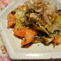 茄子とトマトの甘辛醤油♪おかずかつおサラダ! by saoriさん