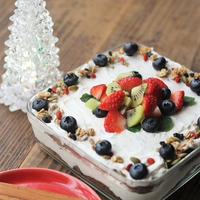 ■クリスマスカラーのフルーツのケーキ*それと2018我が家のクリスマス♪