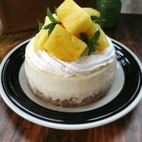 パイナップルのとろけるベイクドレアチーズケーキ