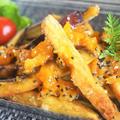■【さつま芋のフライドポテト】 タンカンママレード/ゴマ塩かけてます。