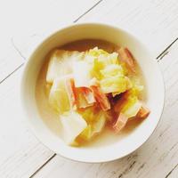 アーモンドミルクで白菜スープ
