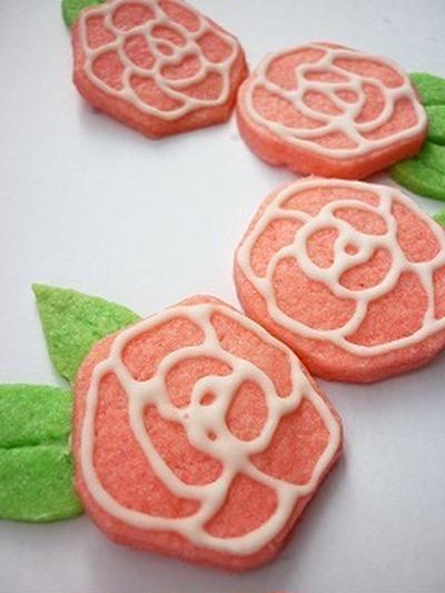 バラのクッキー*作り方