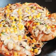 ササミのふわふわしっとりフライパンピザ
