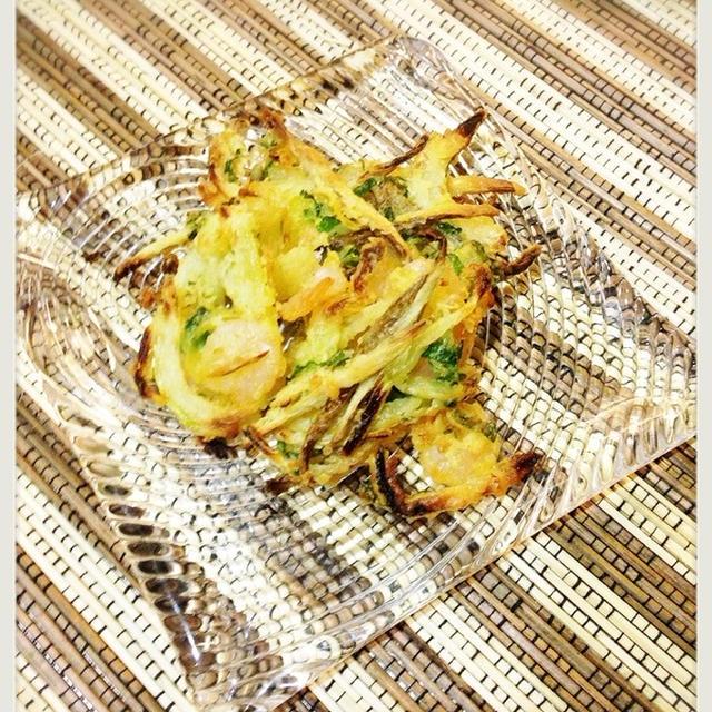 今年最後のお弁当。と天ぷら粉で!簡単かき揚げ