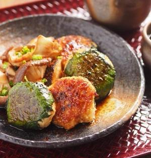 鶏むね肉の柔らかつくね照り焼き 、 マヨネーズでしっとり柔らか!