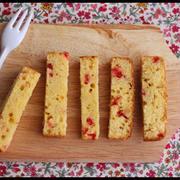 ホワイトデーに♪ホットケーキミックスで簡単!ベリーのスティックケーキとラッピング