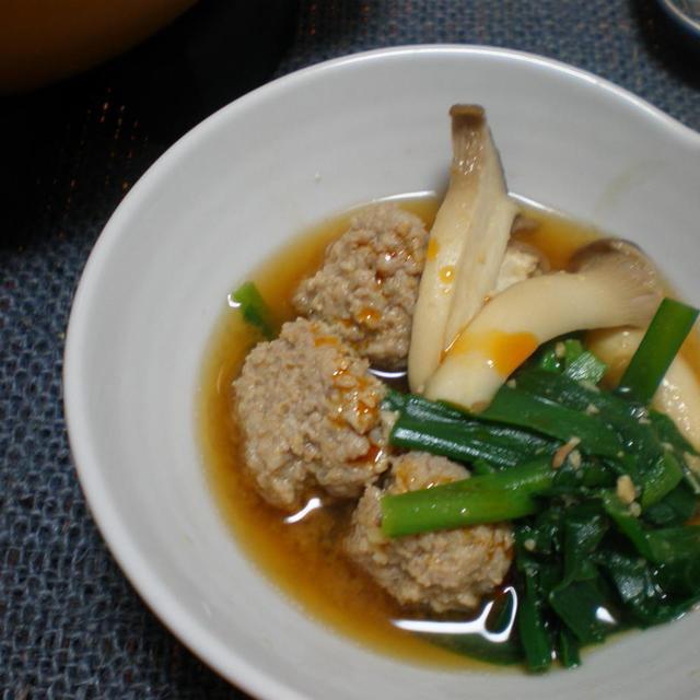 豚ミンチと二ラの味噌鍋