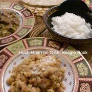 ♪ひよこ豆と麦のインドカレー&簡単チャパティ♪