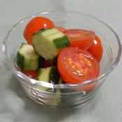 ミニトマトと胡瓜のピクルス