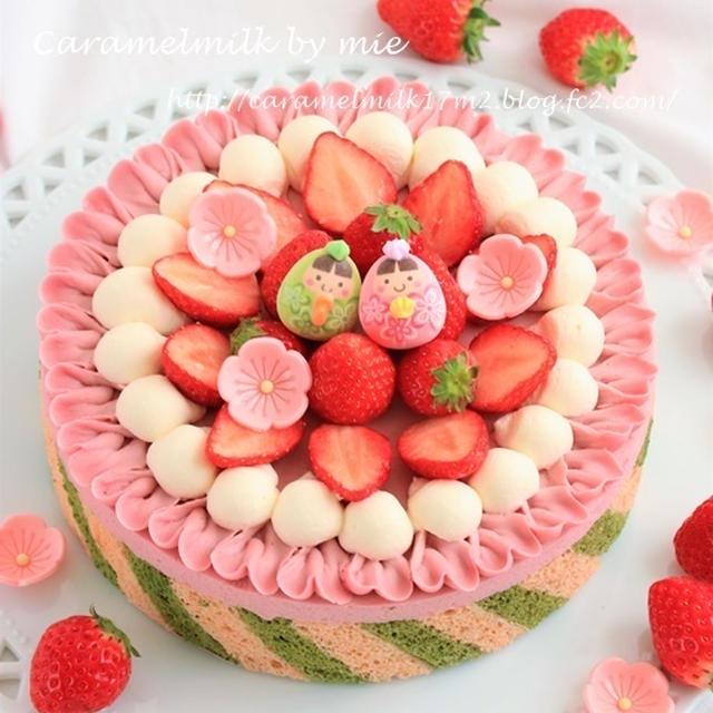 雛祭り♬苺のチョコレートチーズケーキ